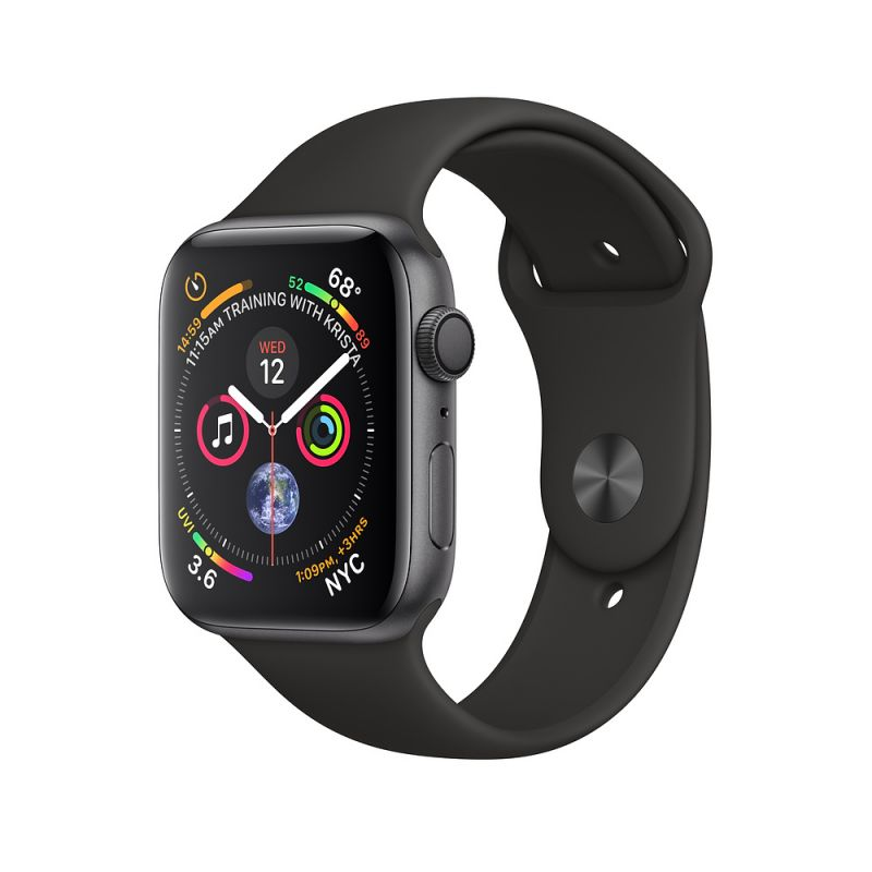 Apple Watch Series 4 40mm (GPS+Cellular) Space Gray Aluminum Case with Black Sport Band (MTUG2)