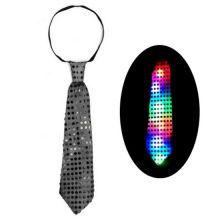 Светящийся карнавальный галстук, Серый