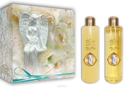 Парфюмерно-косметический подарочный набор White Musk Liss Kroully Skin juice  Шампунь 260 мл + Гель для душа 260 мл