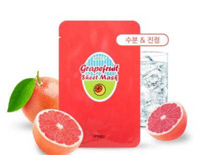 Маска для лица тканевая A'PIEU Grapefruit & Sparkling Sheet Mask 23гр