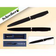 Ручка шариковая металлическая в футляре, синие чернила, черн. корп. (арт. s 2829)