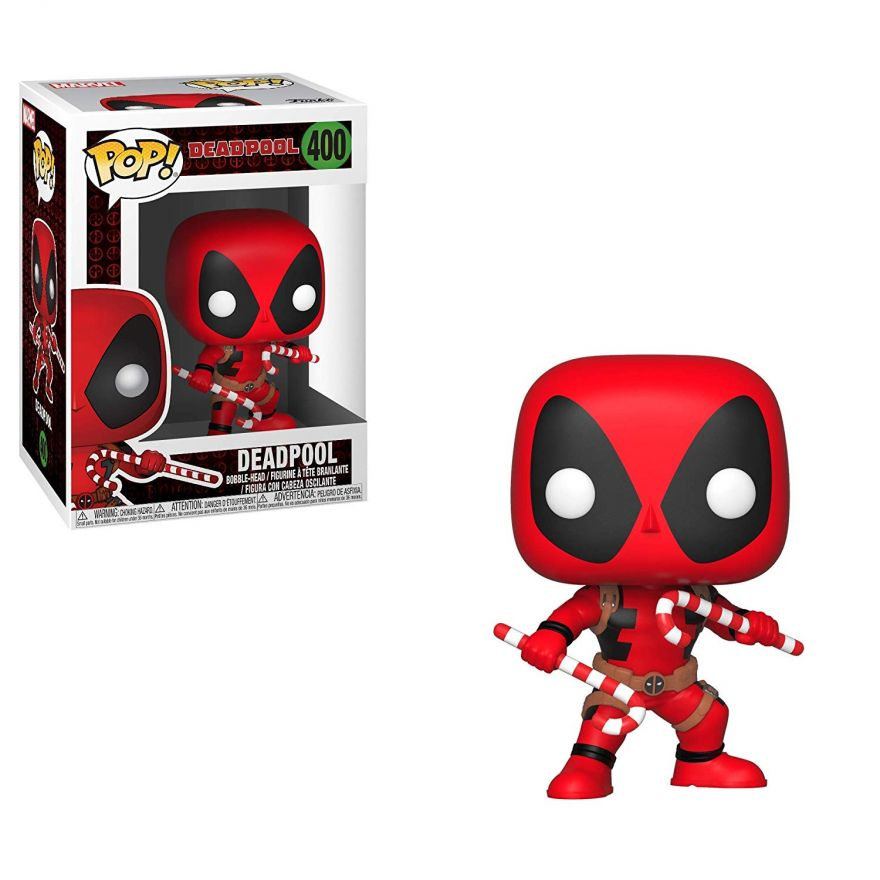 Фигурка Funko Bobble: Marvel: Holiday: Дэдпул (Deadpool) w/ Candy Canes 33985