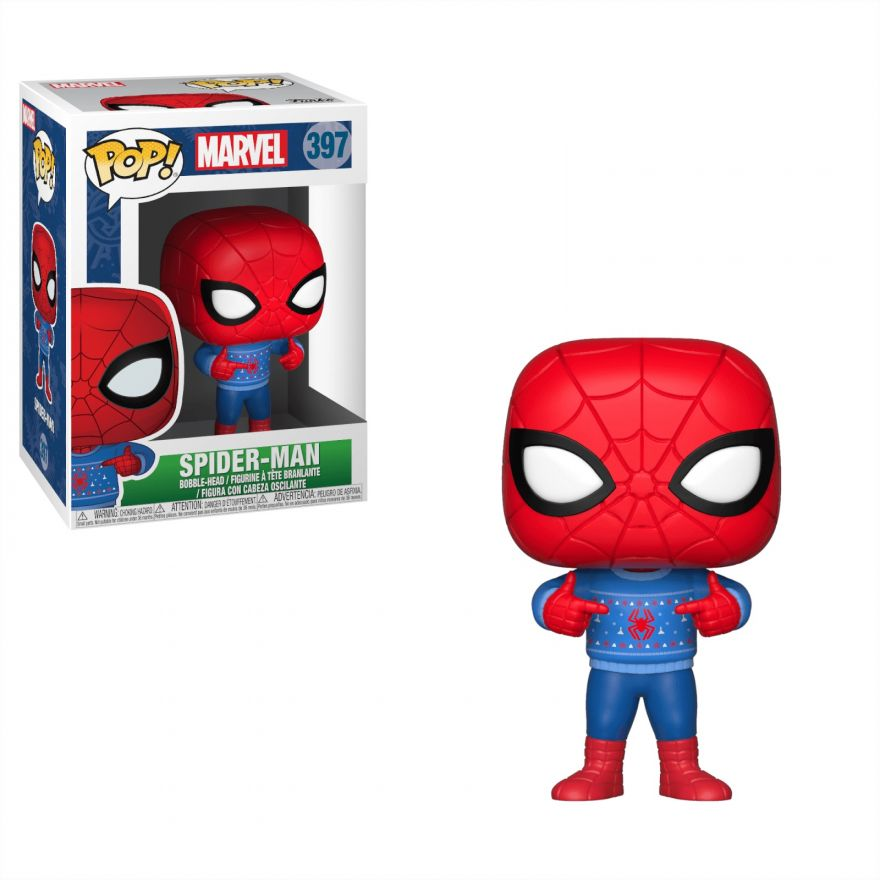 Фигурка Funko Bobble: Marvel: Holiday: Spider-Man w/ Ugly Sweater 33983