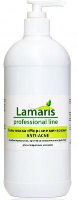 """Lamaris Гель-маска """"Морские минералы""""  с маслом чайного дерева для лица Anti-Acne 500 мл."""