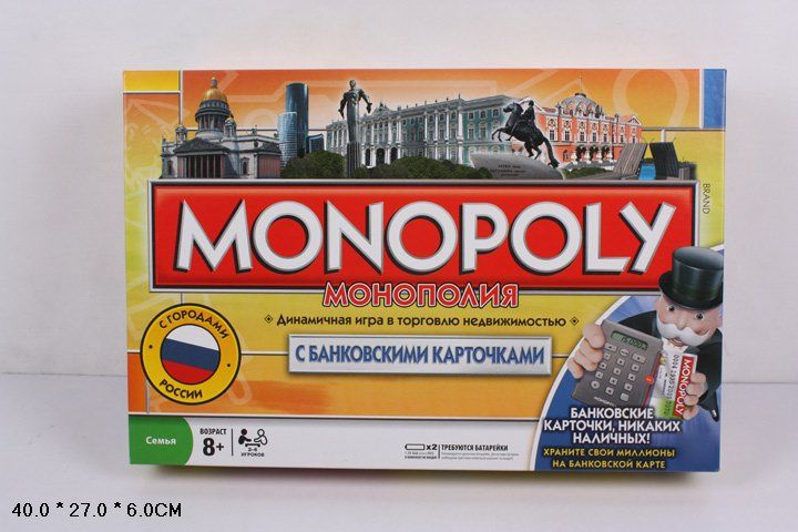 Настольная игра Monopoly Россия с банковскими картами 6141