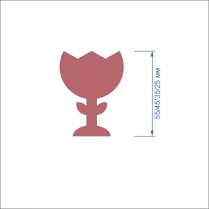 Заготовка ''Тюльпан-1'' , фетр 1 мм (1уп = 5наборов)