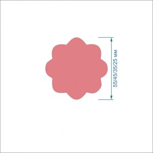 Заготовка ''Цветок-7'' , фетр 1 мм (1уп = 5наборов)