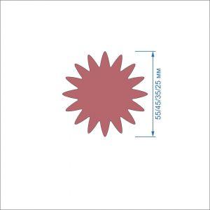 Заготовка ''Цветок-8'' , фетр 1 мм (1уп = 5наборов)