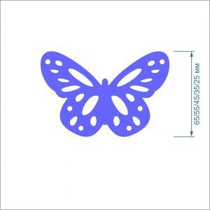 Заготовка ''Бабочка ажурная'' , фетр 1 мм (1уп = 5наборов)