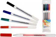Набор гелевых ручек, прозрачный корпус, 0.7 mm, 4 цвета (арт. S 825 A-4)
