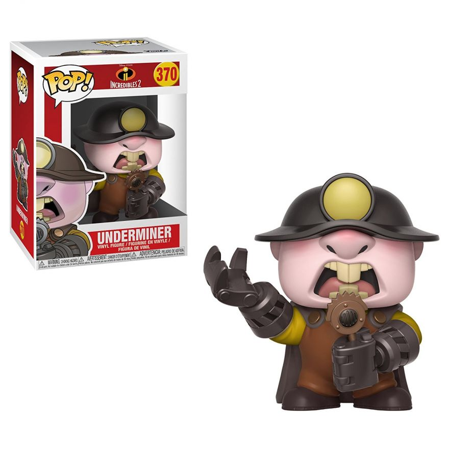 Фигурка Funko POP! Vinyl: Disney: Суперсемейка 2(Incredibles 2): Underminer POP 8 29208