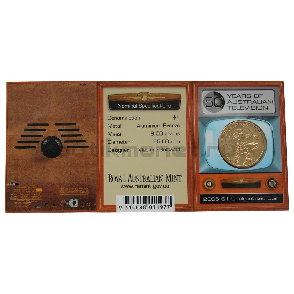 1 доллар 2006 Австралия 50 лет австралийскому телевидению