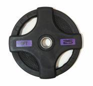 Диск олимпийский обрезиненный черный Original Fittools FT-2HGP-25 25кг