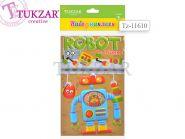 "Набор наклеек ""Робот"", 3 листа, 14х24 см (арт. Tz-11610)"
