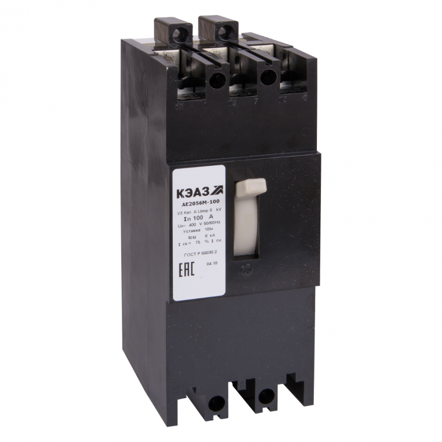 Автоматический выключатель КЭАЗ АЕ2056М-100 АЕ2056М-100-100А-10Iн-400AC-У3-КЭАЗ