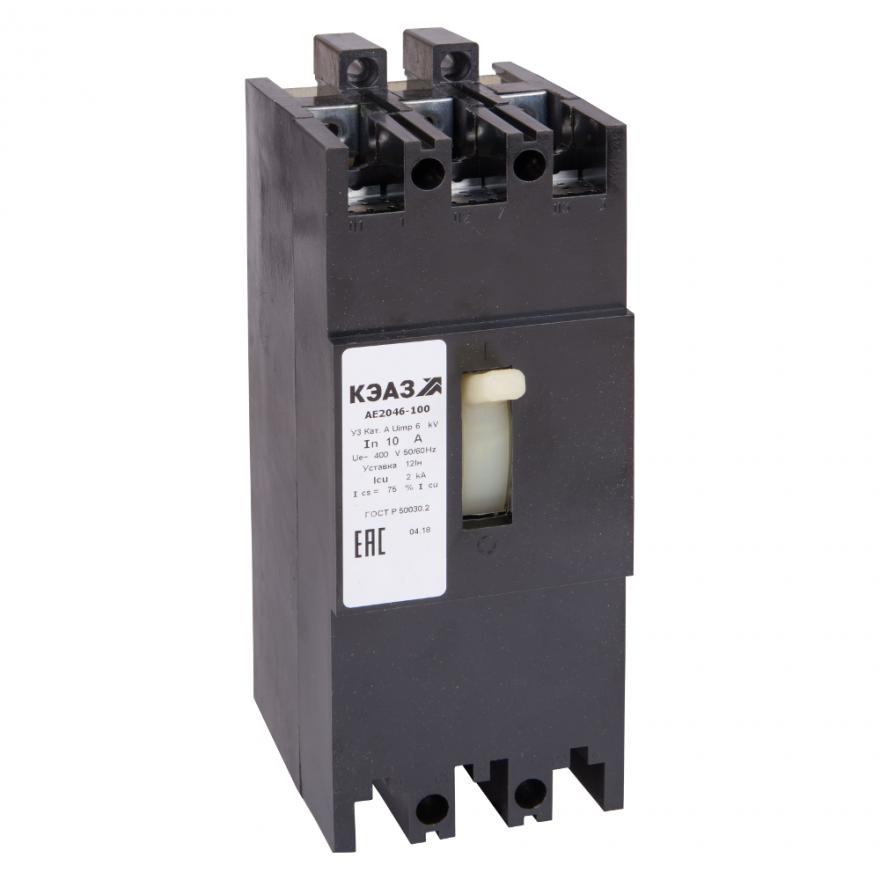 Автоматический выключатель КЭАЗ АЕ2046М-100 АЕ2046М-100-16А-12In -400AC-У3