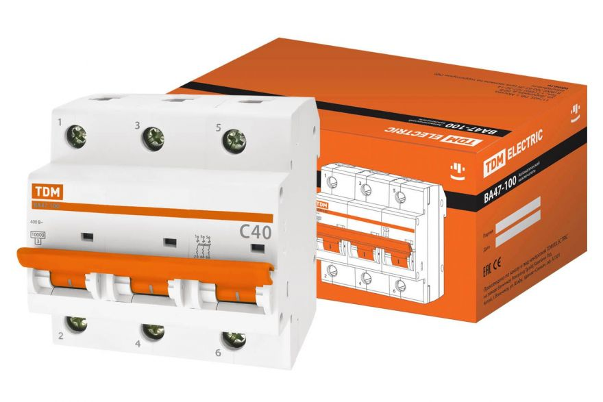 Автоматический выключатель TDM ВА47-100 SQ0207-0073