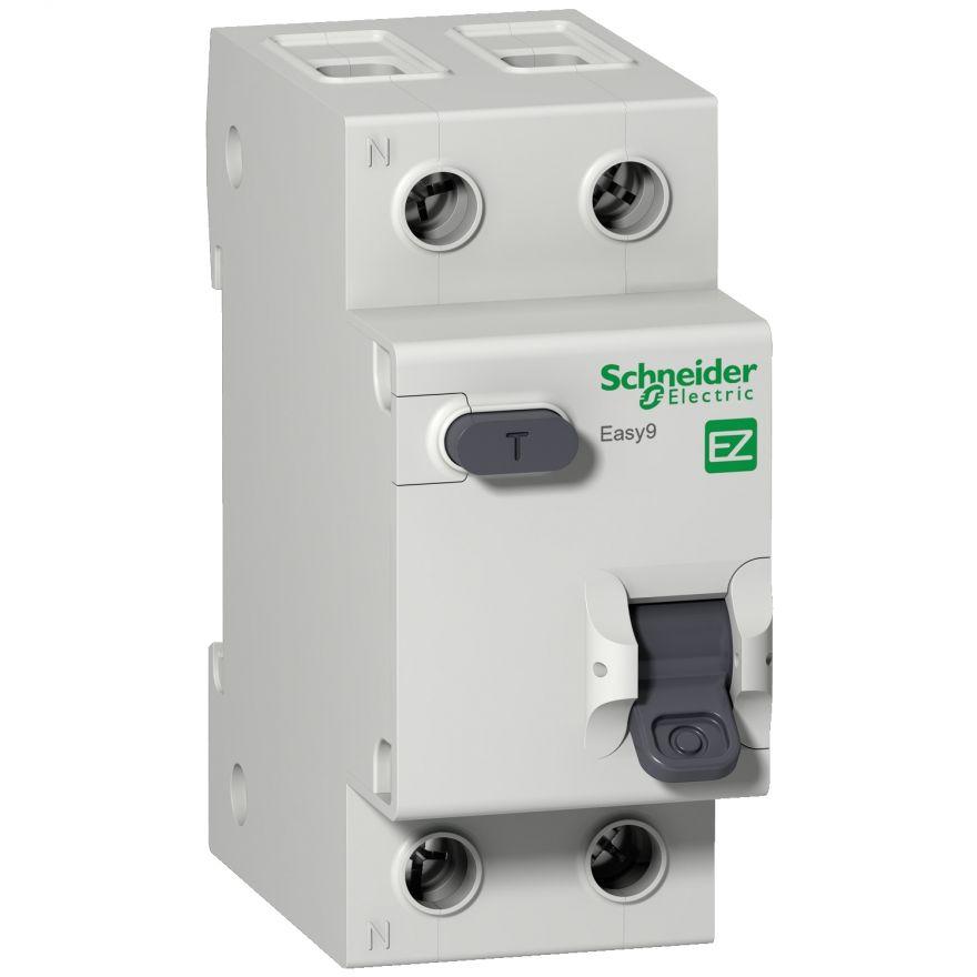 Schneider EASY 9 диф. автомат АВДТ 1P+N 25А/30mA хар-ка C, УЗО типа AC, электрон. 4,5кА EZ9D34625