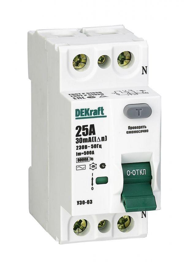 Schneider Electric DEKraft устройство защитного отключения УЗО-03 4P 32А/30мА AC 6кА 14079DEK