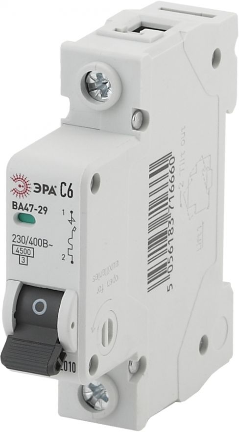 Автоматический выключатель дифференциального тока ЭРА АВДТ 63 NO-902-10