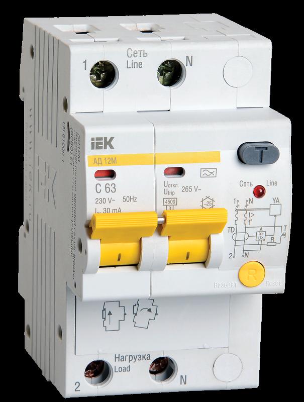 Дифференциальный автоматический выключатель IEK MAD12-2-050-C-030