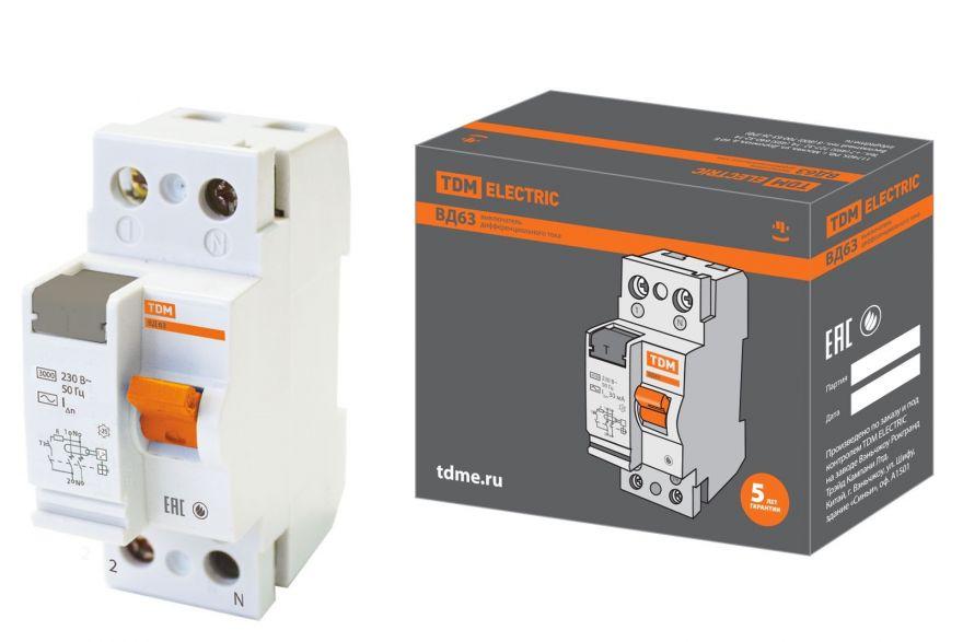 Устройство защитного отключения TDM ВД63 SQ0220-0001