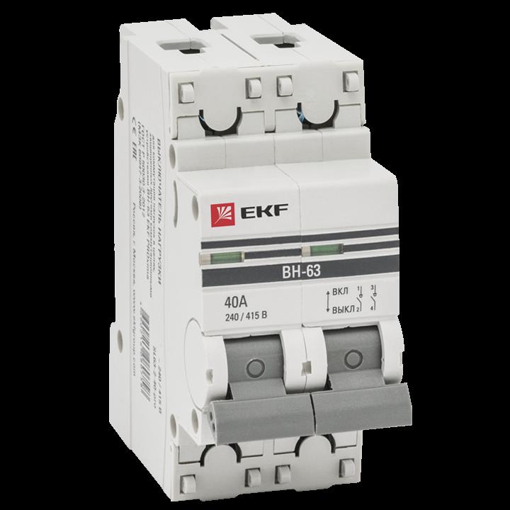EKF PROxima Выключатель нагрузки ВН-63, 2P 25А