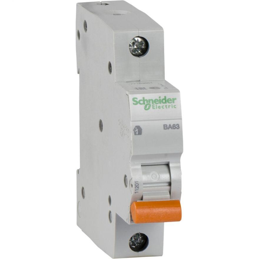 Schneider Domovoy автоматический выкл. ВА63 1P 20А 4,5кА х-ка C 11204