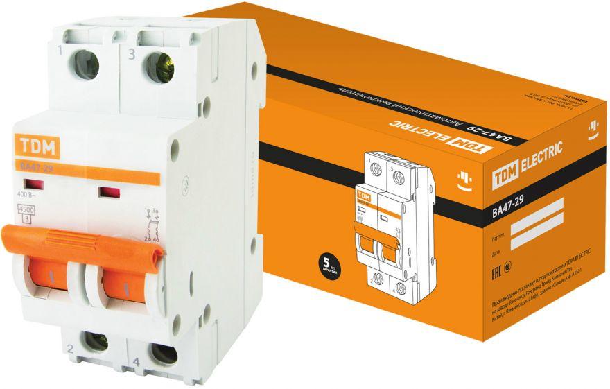 Автоматический выключатель TDM ВА47-29 SQ0206-0093