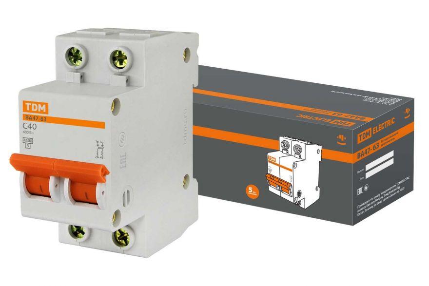 Автоматический выключатель TDM ВА47-63 SQ0218-0012