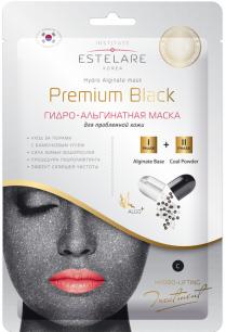 """""""Estelare"""" ГИДРО-Альгинатная маска Premium BLACK для проблемной кожи  55 г"""