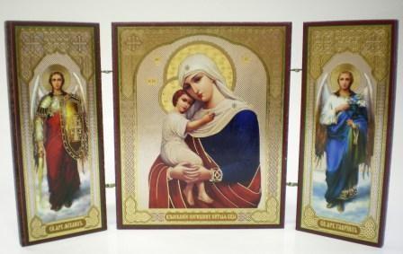"""Складень тройной на дереве - икона Пресвятой Богородицы """"Взыскание погибших"""""""