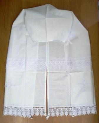 Рушник венчальный. Хлопок, кружево. 1725
