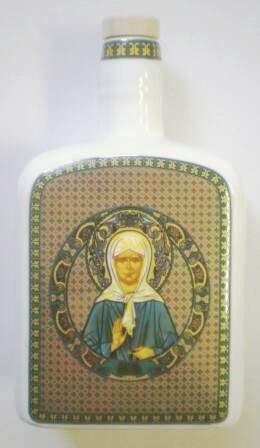 Сосуд для святой воды с иконой Матроны Московской