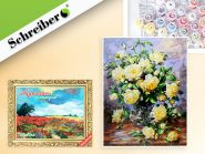 """Набор для раскрашивания по номерам """"Белые розы"""" 40х50см (арт. S 3791)"""