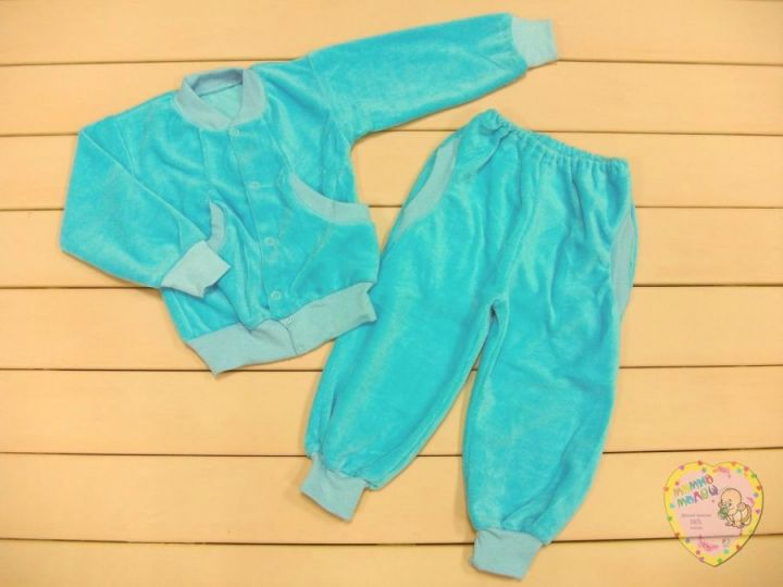 Костюм: толстовка на кн., штаны с карманами dFC-KS076(k)-VL (велюр)