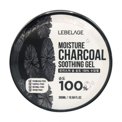 955619 LEBELAGE Увлажняющий гель с древесным углем Moisture Charcoal Purity 100% Soothing Gel