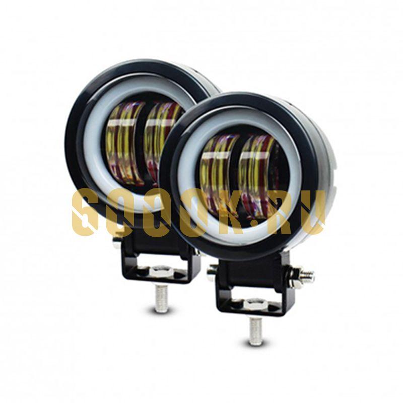 Светодиодные фары дополнительного света с ДХО 40 Вт