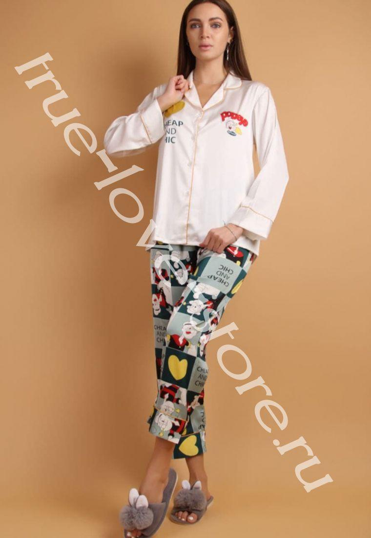 5023-7- Цена за 2 шт, Пижама двойка   (L,XL)
