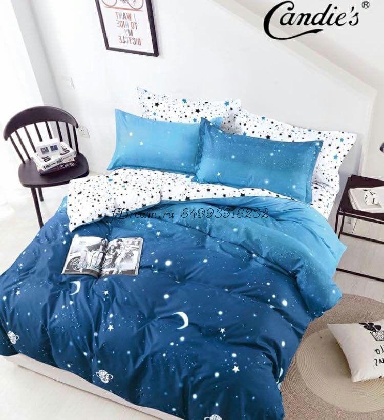 """Комплект постельного белья на резинке Candi`s """"Midnight"""""""