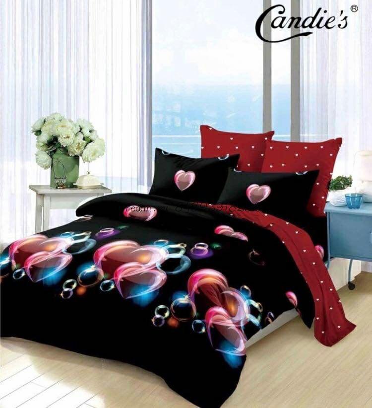 """Комплект постельного белья на резинке Candi`s """"Black Hurts"""""""
