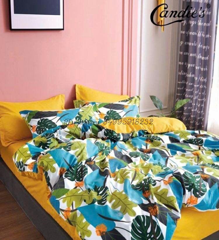 """Комплект постельного белья на резинке Candi`s """"Leaves"""""""