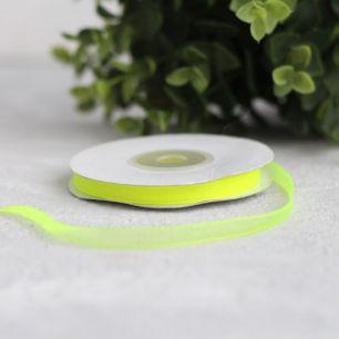 Лента капроновая (органза) 6 мм, лимонная