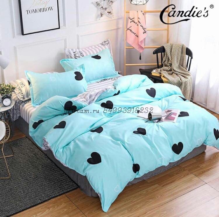 """Комплект постельного белья на резинке Candi`s """"Blue Hurts"""""""