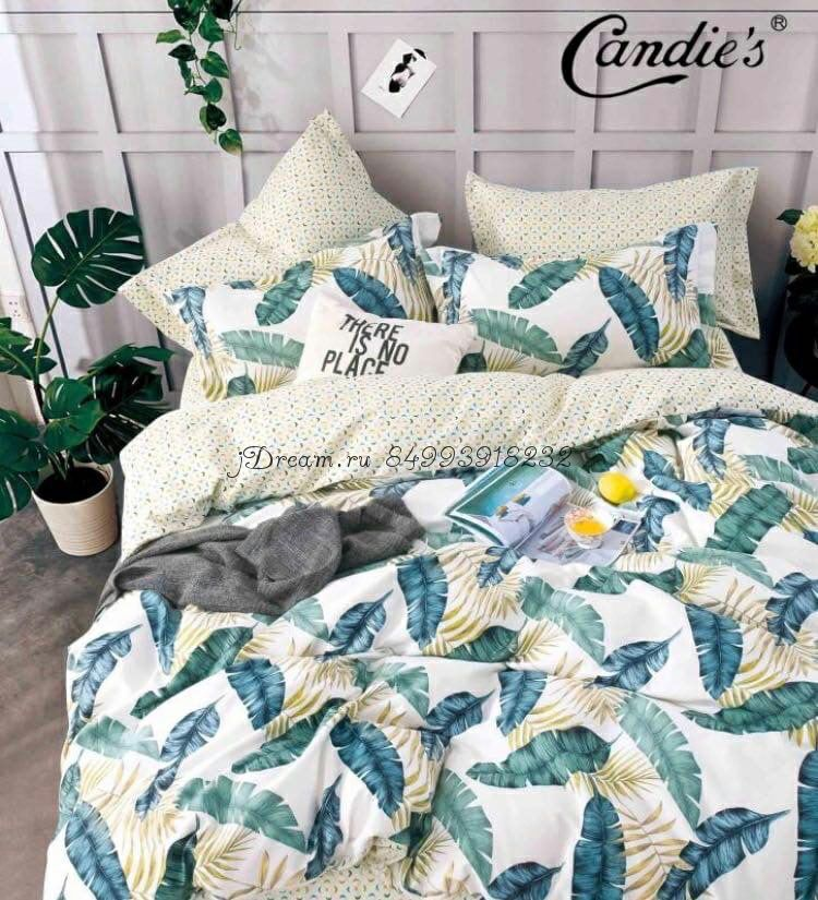 """Комплект постельного белья на резинке Candi`s """"Fern-2"""""""