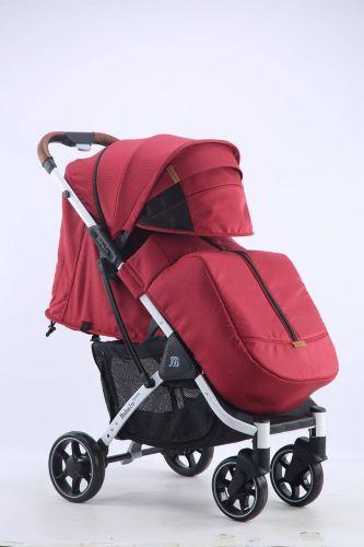 Бабало 2021, Babalo future красная на белой раме с рюкзаком