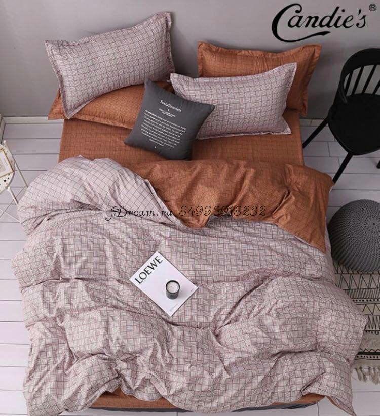 """Комплект постельного белья на резинке Candi`s """"Square"""""""