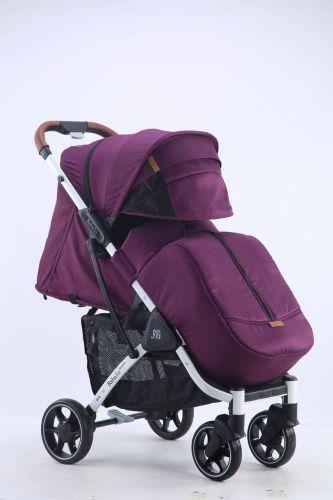 Бабало 2021, Babalo future фиолетовая на белой раме с рюкзаком