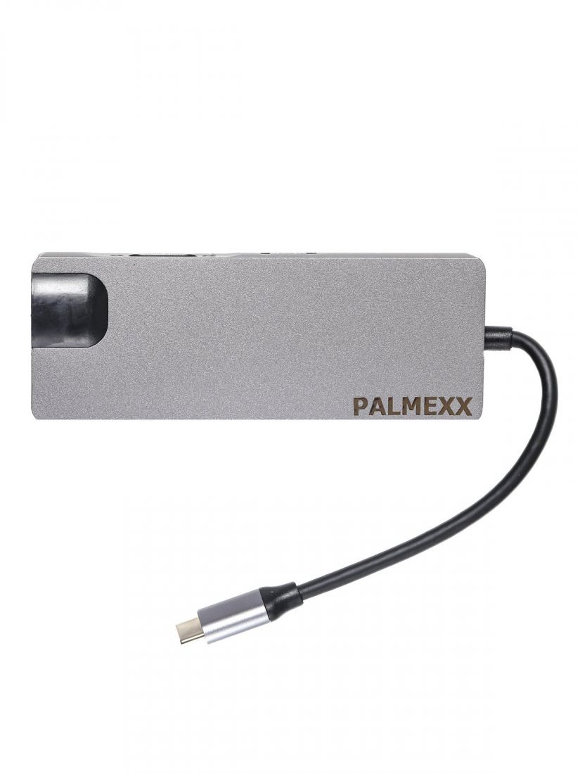Хаб PALMEXX 8в1 USB-C to HDMI+VGA+2*USB3.0+USBC+CR+LAN