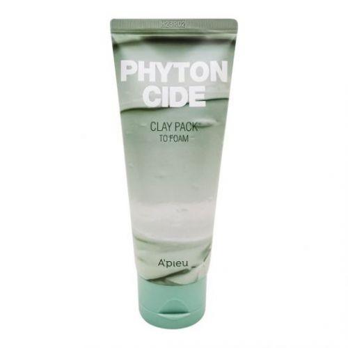 444058 A'PIEU Маска пенка для умывания Phytoncide Clay Pack To Foam